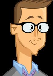 cartoon portrait of Tom McGillis
